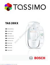 Bosch Tassimo TAS Amia 20xx Manuals