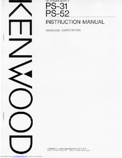 Kenwood PS-52 Manuals