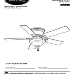 Harbor Breeze Keyport Black Bear Vitals Diagram Hugger 40141 Manuals Installation Manual