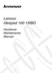 Lenovo ideapad 100-15IBD Manuals