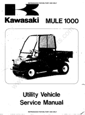Kawasaki mule 1000 Manuals