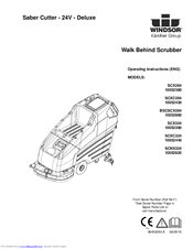 Windsor SCX324 Manuals