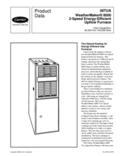 Carrier WeatherMaker 8000 Manuals