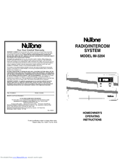Nutone IM-3204 Series Manuals