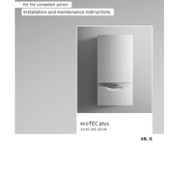 Vaillant Ecotec Plus 438 Wiring Diagram Clustering In Sql Server 2008 With Vu 100 Manuals And User Guides For We Have 1 Manual Available Free Pdf Download Installation