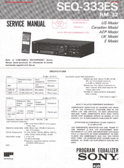 Sony SEQ-333ES Manuals
