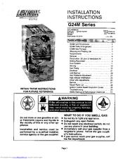 Lennox G24M SERIES Manuals