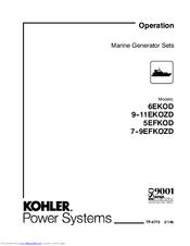 Kohler 6EKOD Manuals