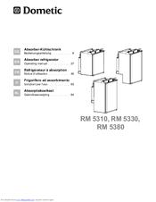 Dometic RM 5330 Manuals