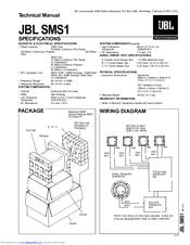 Jbl SMS1 Manuals