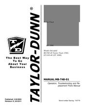 Taylor-dunn B0-T48-48 Taylor Truck T48 Manuals