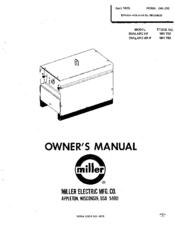 Miller DIALARC HF-P Manuals