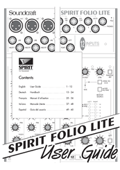 Soundcraft Spirit Folio Lite Manuals