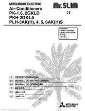 Mitsubishi Electric PLH-4AKS Mr.Slim Manuals