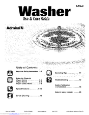 Admiral AAV7000AWW Manuals