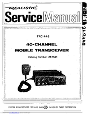 Realistic trc-448 Manuals