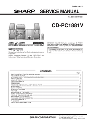 Sharp CD-PC1881V Manuals