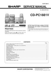Sharp CD-PC1881V Manuals