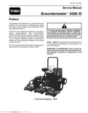 Toro GroundsmasterR 4300-D Manuals