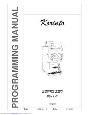Necta Korinto Espresso Manuals