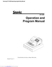 Sam4s ER-420M Manuals