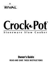 Rival Crock Pot Manuals