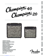 Fender Champion 20 Manuals