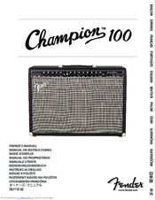 Fender Champion 100 Manuals