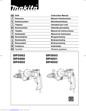 Makita DP4001 Manuals