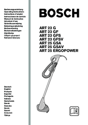 Bosch ART 25 GSAV Manuals