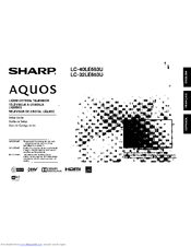 Sharp Aquos LC-32LE653U Manuals