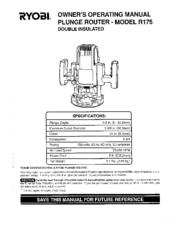 Ryobi R175 Manuals