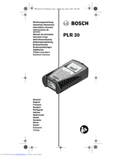 Bosch PLR 30 Manuals