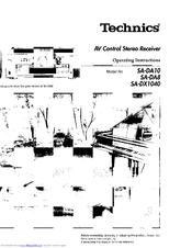 Technics SA-DX1040 Manuals