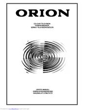 Orion Color CRT TV Manuals