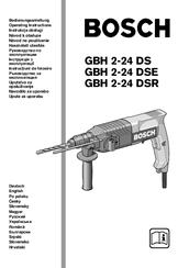 Bosch GBH 2-24 DSR Manuals