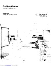 Bosch HBL54 Manuals
