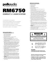 Polk Audio RM6750 Manuals