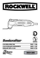 Rockwell Sonicrafter X2 RK5140K Manuals