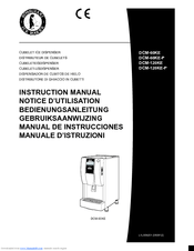 Hoshizaki DCM-120KE Manuals
