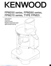 Kenwood TYPE FPM25 Manuals