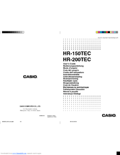 Casio HR-150TEC Manuals