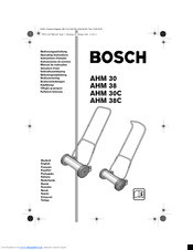 Bosch AHM 38 Manuals