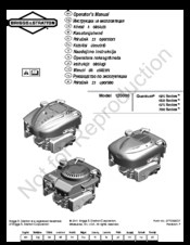 Briggs & Stratton Quantum 700 Series Manuals