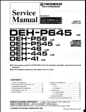 Pioneer deh-p645 Manuals