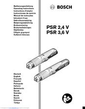Bosch PSR 3,6 V Manuals