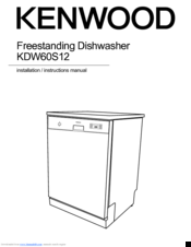 Kenwood KDW60S12 Manuals