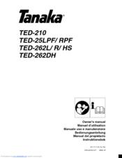 Tanaka TED-262L Manuals