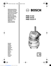 Bosch PAS 11-21 Manuals