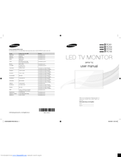 Samsung LT24C550 Manuals